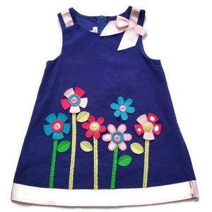 Bonnie Jean Girls Button Flower ROY Jumper Dress